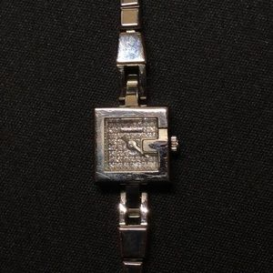 Gucci stainless steel watch with diamonds
